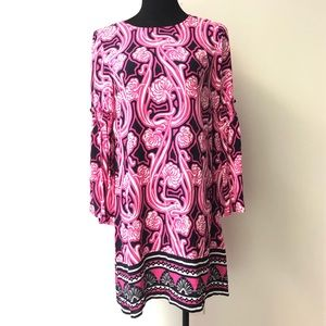NEW Crown & Ivy bell sleeve pink dress size 4